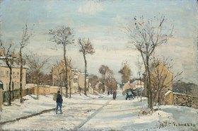 Camille Pissarro: Strasse von Louveciennes im Schnee