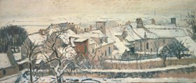 Camille Pissarro: Winter in Louveciennes (aus: die vier Jahreszeiten)