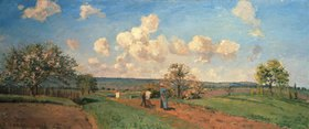 Camille Pissarro: Frühling (Frühjahrs-Bestellung, aus: Die vier Jahreszeiten)