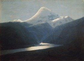 Arkhip Kuinji: Schneegipfel im Elbrus-Gebirge. 1870-er Jahre