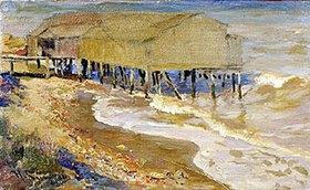 Nikolaj Kusnezow: Badehaus im Meer