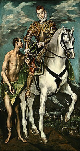 Greco El (Dominikos Theotokopoulos): Der hl. Martin und der Bettler
