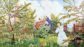 Boris Michailowitsch Kustodiev: Im Apfelgarten
