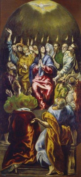 Greco El (Dom.Theotokopoulos): Die Ausgießung des heiligen Geistes (Pfingsten)