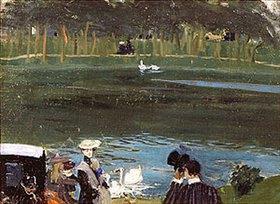 Boris Michailowitsch Kustodiev: Am Teich im Bois de Boulogne
