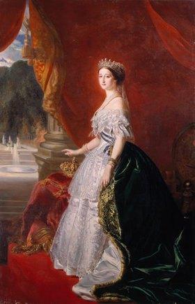 Franz Xaver Winterhalter: Kaiserin Eugénie in ganzer Figur