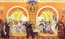 Boris Michailowitsch Kustodiev: Ein Hochzeitsfest