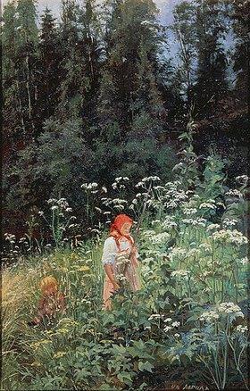 Olga Lagoda-Schischkina: Mädchen in der Blumenwiese