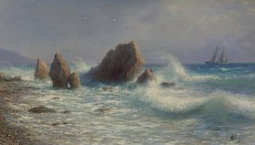 Leo Lagorio: Stürmisches Meer bei Livadia