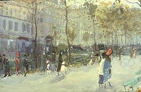 Evgeny Lanceray: Auf einem Boulevard in Paris
