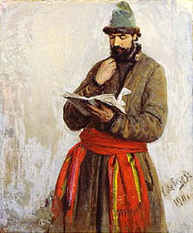 Klawdij Wassiljew Lebedjeff: Der Kaufmann Kalaschnikov. Illustration zum Gedicht von Lermontov