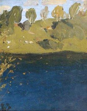 Isaak Iljitsch Lewitan: See im Herbst. 1890-er Jahre