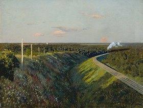 Isaak Iljitsch Lewitan: Eisenbahn-Strecke mit Dampfzug. 1890-er Jahre