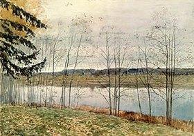 Isaak Iljitsch Lewitan: Kahle herbstliche Bäume am Wasser