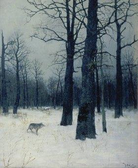 Isaak Iljitsch Lewitan: Winterwald mit Wolf