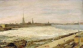 Alexander Litovtschenko: Eisgang auf der Newa in St.Petersburg