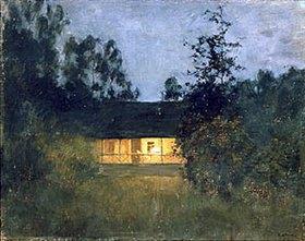 Isaak Iljitsch Lewitan: Landhaus in der Abenddämmerung. 1890-er Jahre