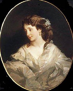 Iwan Kuzmitsch Makarow: Bildnis der Frau Tschelischewa. 1860er/1870-er Jahre