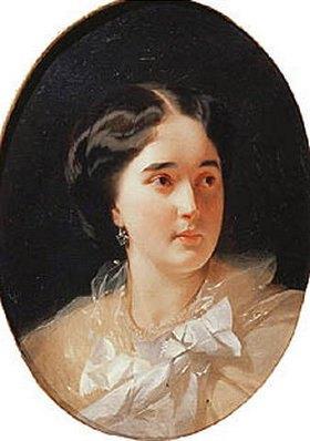 Iwan Kuzmitsch Makarow: Bildnis der Fürstin Darja Olsufjewa (1836-?)