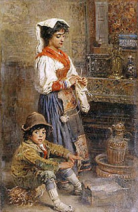 Konstantin Jegor Makovskij: Zwei Modelle warten auf den Maler