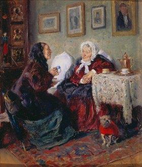 Wladimir J Makovskij: Zwei alte Frauen beim Kaffeeklatsch