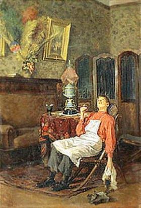 Wladimir J Makovskij: Wenn der Herr nicht zu Hause ist. 1900-er Jahre