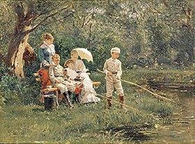 Wladimir J Makovskij: Familienrast in der Mittagssonne