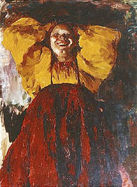 Philipp Maljawin: Junge Frau in gelb