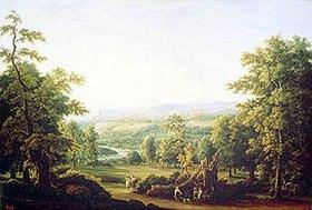 Fjodor Matveev: Landschaft in der Umgebung von Bern
