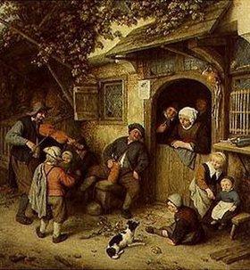 Adriaen van Ostade: Fiedler vor dem Bauernhaus