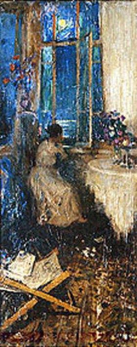 Wassily Meschkov: Abendliche Träumerei am Fenster
