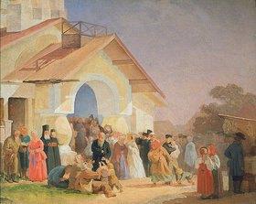 Alexander Iwanow Morosoff: Nach dem Kirchgang in Pskov