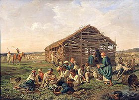 Alexander Iwanow Morosoff: Rast während der Heu-Ernte