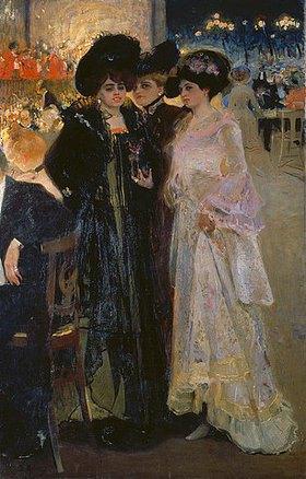 Alexander Alexandrow Muraschko: Damen in einem Pariser Café