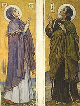 Michail Wassiljew Nesterow: Die Hl. Jungfrau und der Jünger Johannes