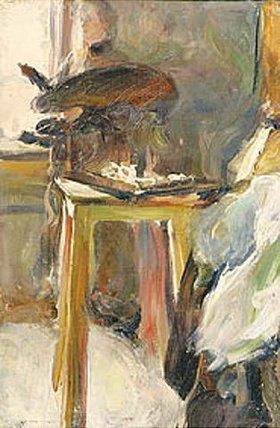Simon Nikiforov: Die Frau des Künstlers, N. Nataljina, als Malerin