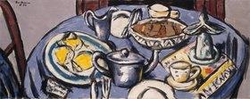 Max Beckmann: Frühstückstisch (blau)