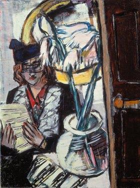 Max Beckmann: Frau mit Blumen