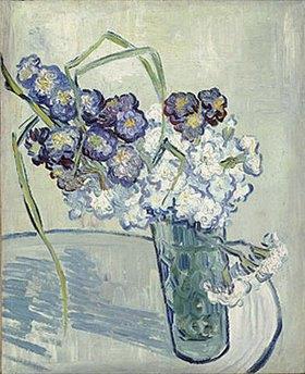 Vincent van Gogh: Vase mit Nelken. Auvers, Juni