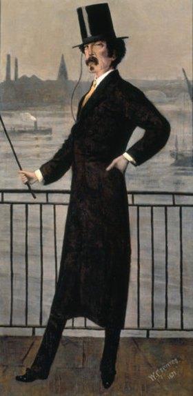Walter Greaves: James Abbott McNeill Whistler auf dem Widow's Walk in der Nähe seines Hauses