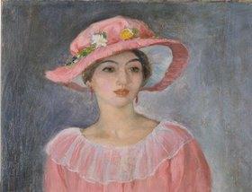 Henri Lebasque: Dame mit rosafarbenem Hut. (o.J.)