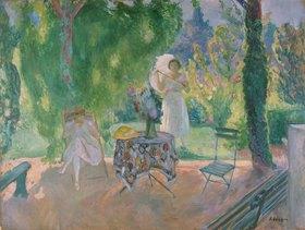 Henri Lebasque: Frühstückstisch im Garten