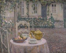 Henri Le Sidaner: Das rosa Tischtuch