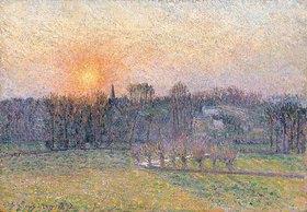 Camille Pissarro: Sonnenuntergang über Baumlandschaft