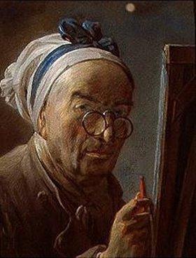 Jean-Baptiste Siméon Chardin: Selbstbildnis vor der Staffelei