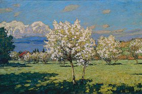 Pjotr Petrowitschev: Blühende Kirschbäume