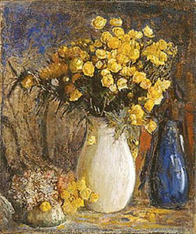 Pjotr Petrowitschev: Gelbe Blumen in weissem Krug