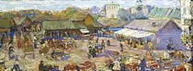 Pjotr Petrowitschev: Markttag in Pskov