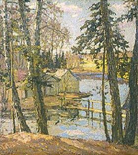Pjotr Petrowitschev: Kleiner Teich im Frühling