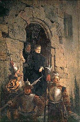 Vasilij Dimitrijew Polenow: Die Einkerkerung der Hugenottin Jacobin d´ Montebel, Herzogin von Etremont